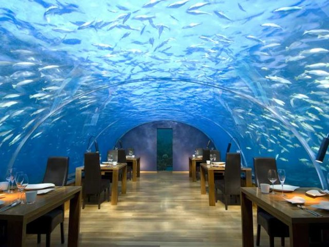 Conrad Rangali Underwater Restaurant, Maldives