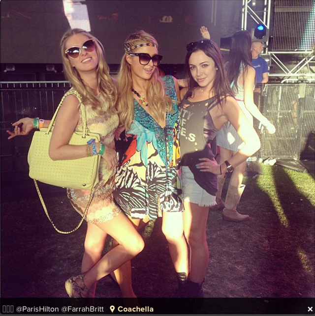 Paris and Nicky Hilton at Coachella 2013 Instagram