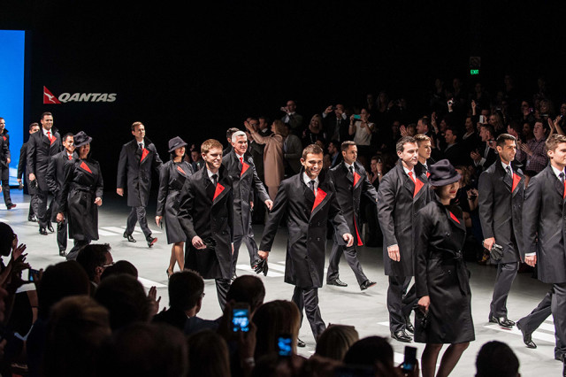 Qantas Uniforms on the Catwalk