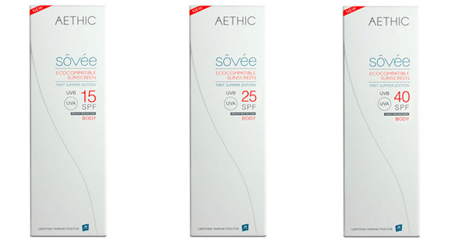 Aethic Sovee coral friendly sunscreen