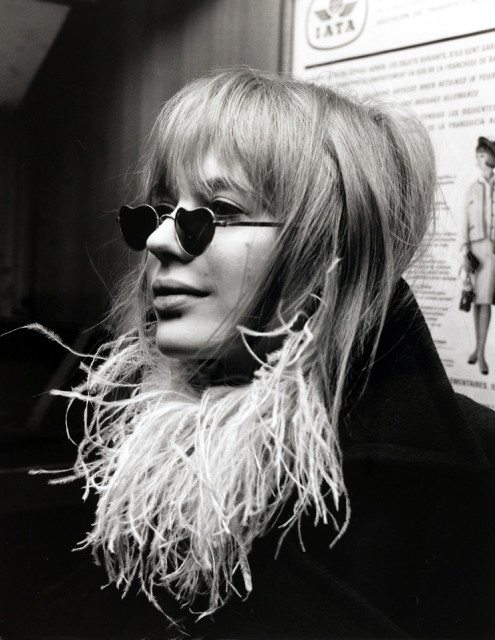 Love Sunglasses worn by Marianne Faithfull