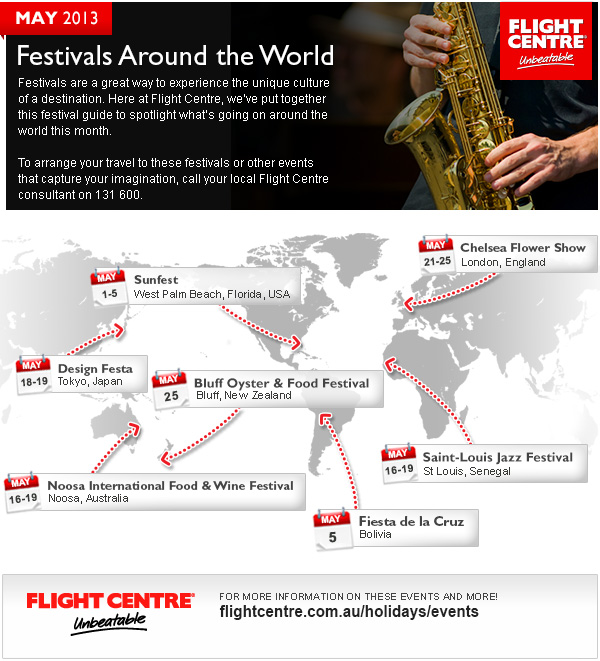 Flight Centre May Festivals