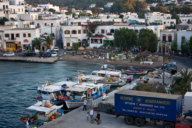 Skala in Patmos Greece