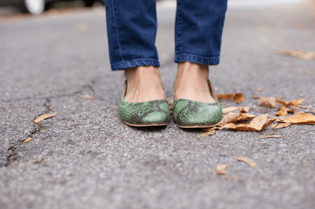 Maven Collection GREEN PYTHON FLATS