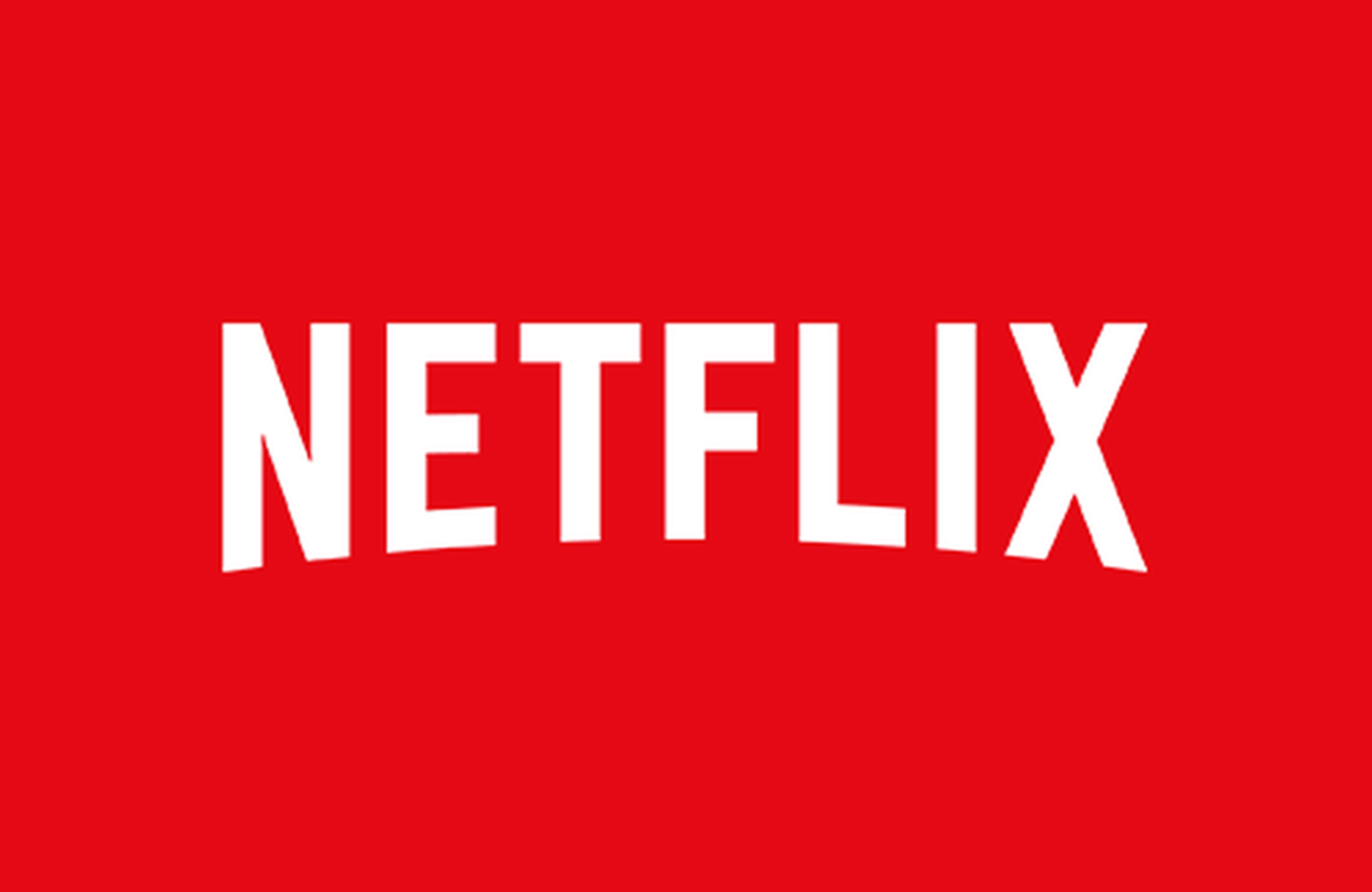 The Netflix logo on a red background.