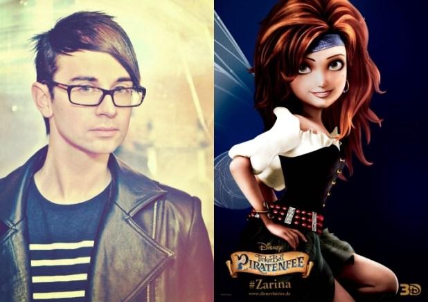 Designer Christian Siriano und Piratenbraut Zarina (Walt Disney Pictures)