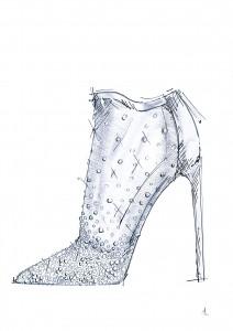 Schuh von Stuart Weitzman.