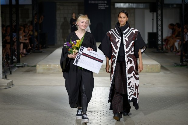 "Winner of the Award ""Best Pattern Making / Draping 2015"" is Birute Mazeikaite with her Collection ""1ce Upon"" at the INDEPENDENCE: ESMOD Berlin B.A. Graduation Show 2015 at Vollgutlager in Berlin, on 04.07.2015 in Berlin"