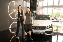 Lucie Von Alten, Eliot Sumner Mercedes-Benz Fashion Week Berlin SPRING/SUMMER 2017, Fashion Talk im Erika-Hess-Stadion in Berlin am 30.06.2016 Foto: Nass / Brauer Photos fuer Mercedes-Benz
