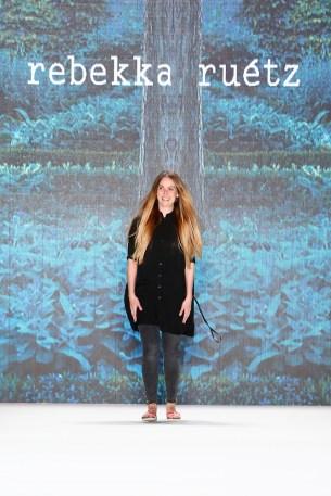BERLIN, GERMANY - JUNE 29: Designer Rebekka Ruetz walks the runway after her show during the Mercedes-Benz Fashion Week Berlin Spring/Summer 2017 at Erika Hess Eisstadion on June 29, 2016 in Berlin, Germany. (Photo by Frazer Harrison/Getty Images for Rebekka Ruetz) *** Local Caption *** Rebekka Ruetz