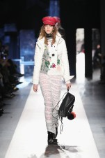 DESIGUAL_NYFW_AW17_ATWALK_LOOK 35..NEW YORK, NY - FEBRUARY 09:A model walks the runway at the Desigual show New York Fashion Week The Shows at Gallery 1, Skylight Clarkson Sq on February 9, 2017 in New York City.