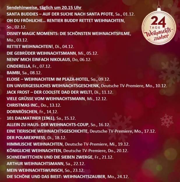 Disney S Magischer Advent Vom 1 Bis 24 Dezember 2018 Mode
