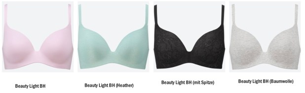 UNIQLO Beauty Light BH Kollektion 2019