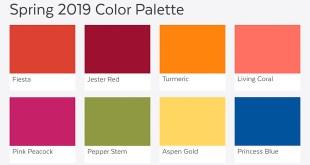 Pantone Farbtrends 2019