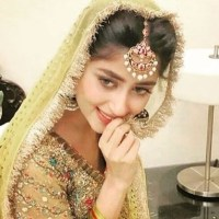 Sajal Ali acting like a shy girl