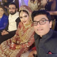 Sheen Javed with husband, wedding