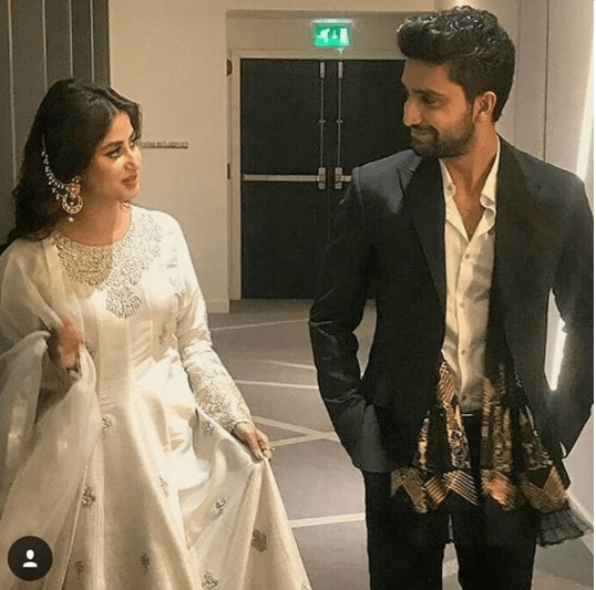 Sajal Aly With Ahad Raza Mir At Lux Style Awards 2018 Pakistani Drama Celebrities