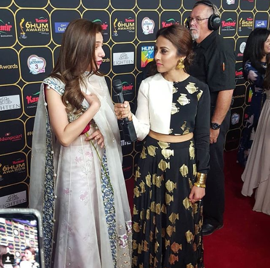 Beautiful Iqra Aziz And Annie Jaffri At Hum Awards In Canada Pakistani Drama Celebrities