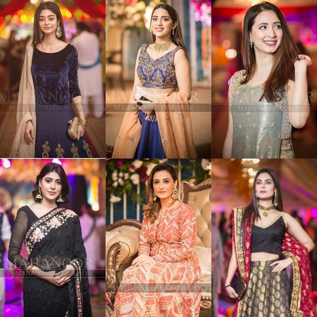 Beautiful Clicks of Celebrities at the Aineeb Mehndi