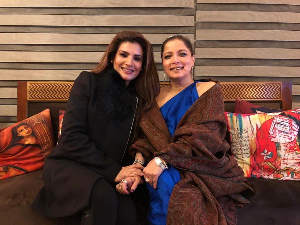 Resham and Babra Sharif Having Fun Time
