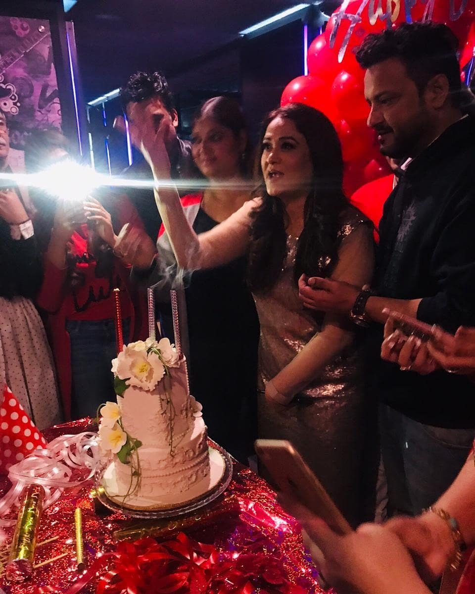 Famous Actress Humaira Bano Celebrating Her Birthday with Friends & Family