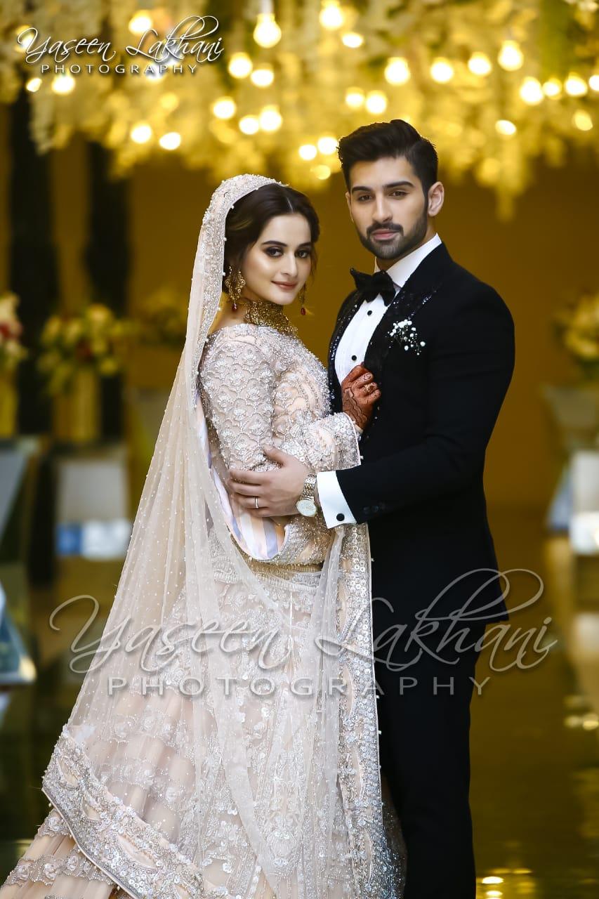 Latest Photos of Aiman Khan Wedding Reception