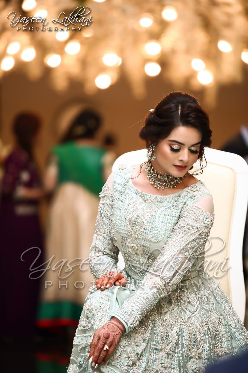 Beautiful Pictures Of Aiman Khan Wedding Reception By Yaseen Lakhani Photography Pakistani