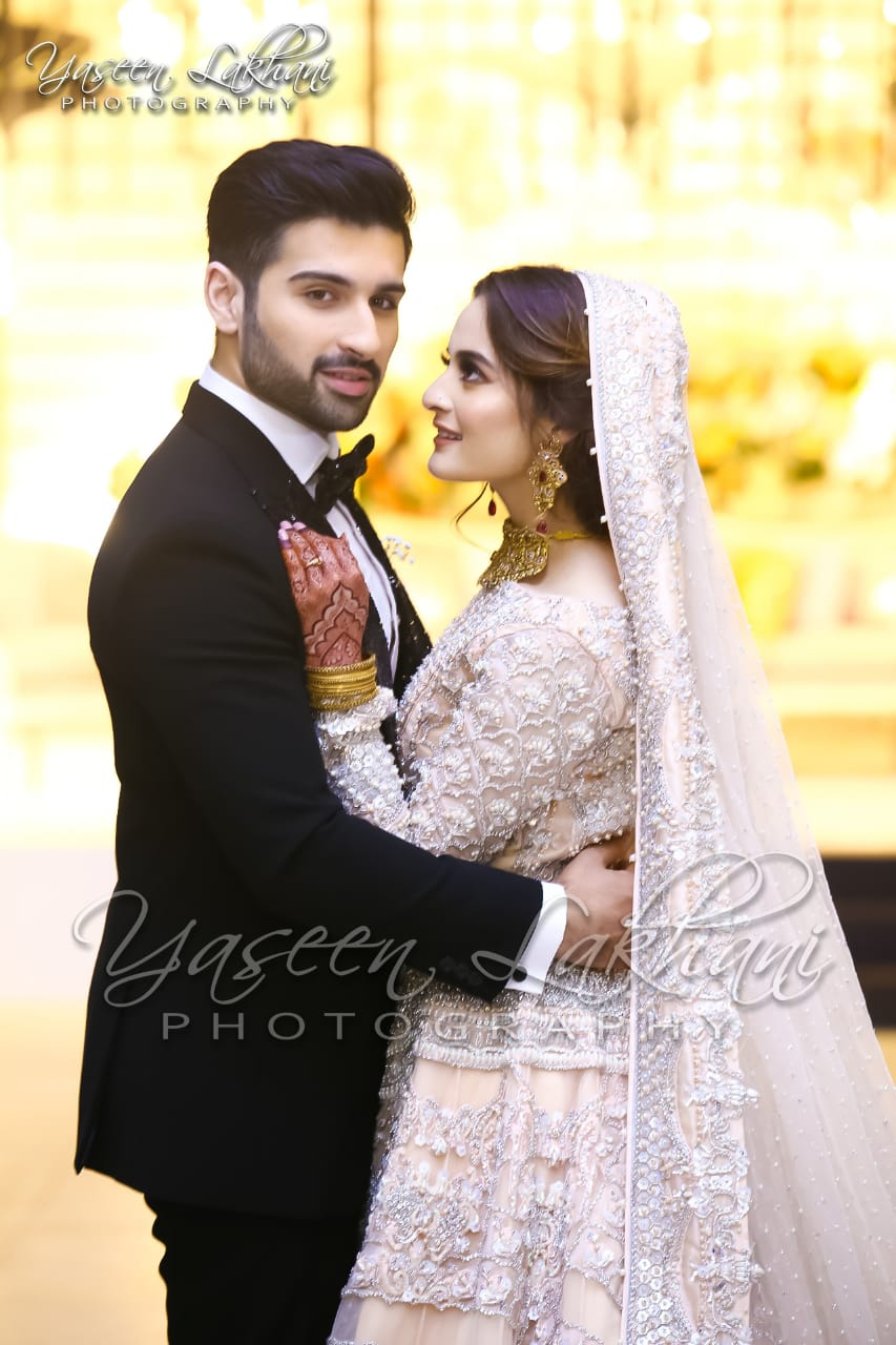 Beautiful Pictures Of Aiman Khan Wedding Reception By