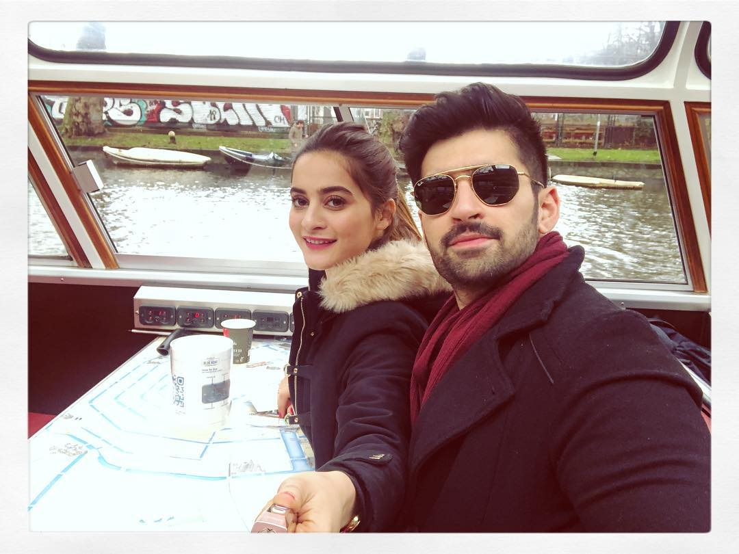 New Awesome Photos of Lovely Couple Aiman and Muneeb in Netherlands