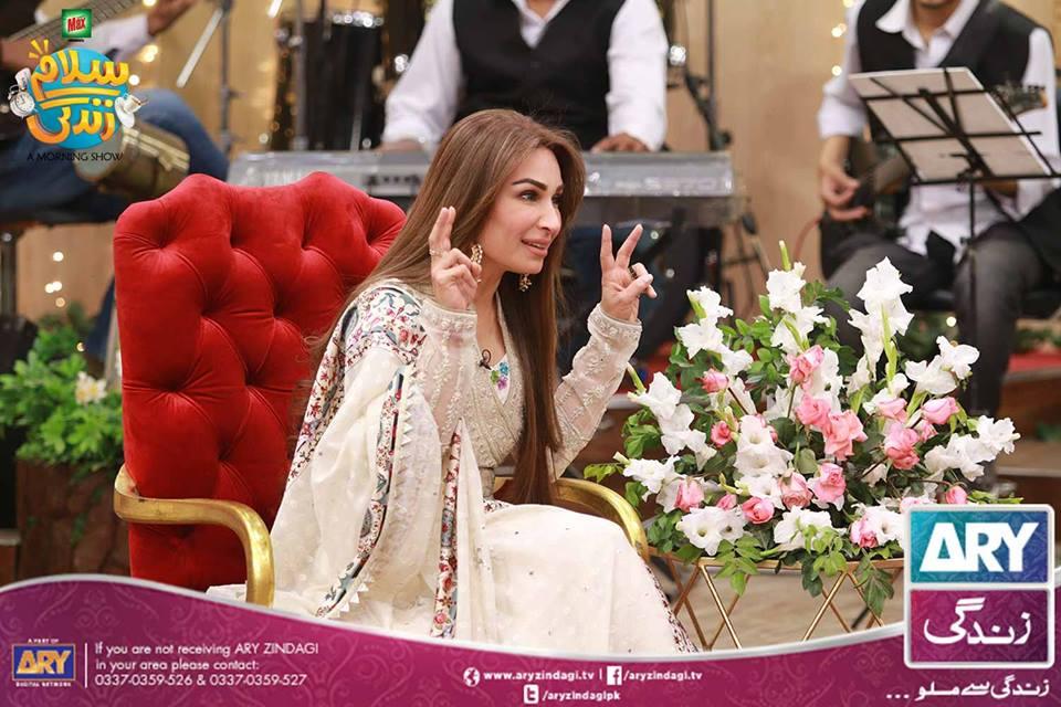 Faysal Qureshi Morning Show with Famous Pakistani Filmy Actress Reema