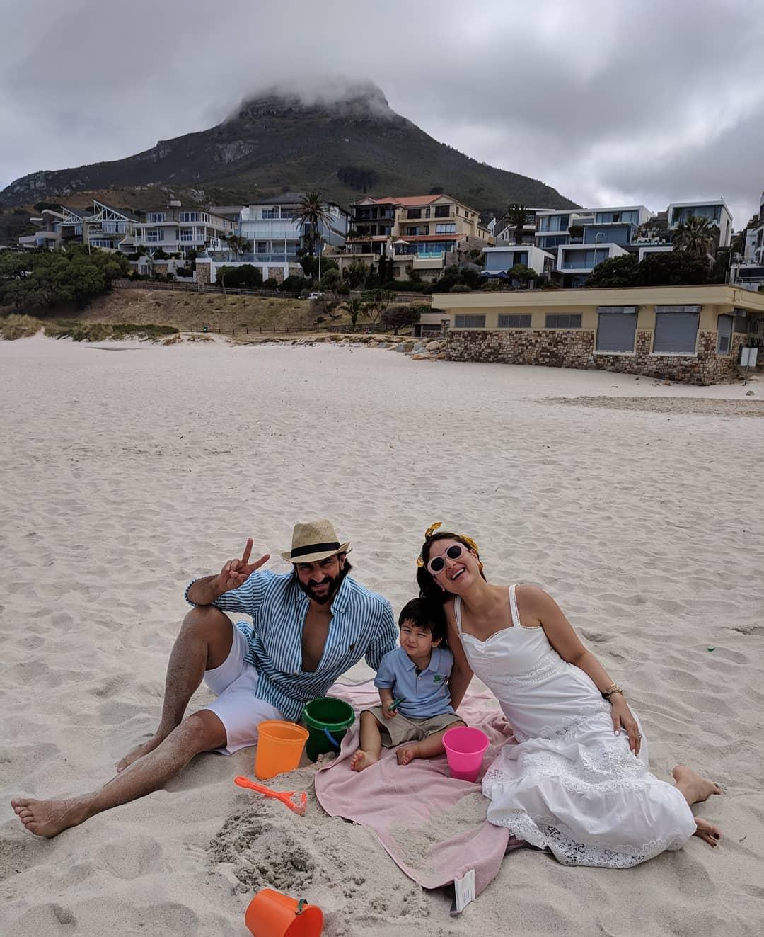 Saif Ali Khan, Kareena and Their Son Taimoor Ali Khan Having Fun in South Africa