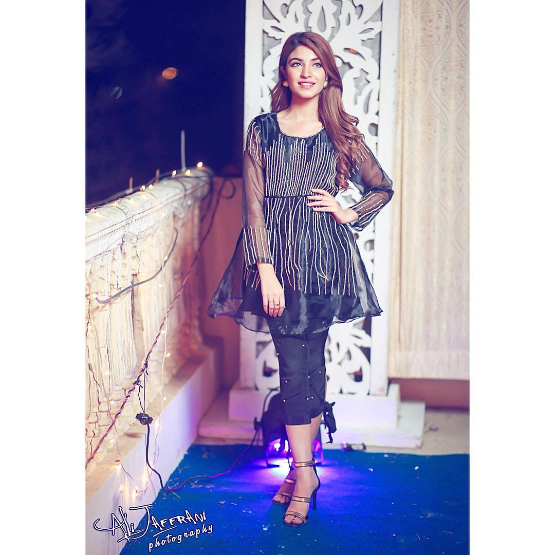Awesome Kinza Hashmi Spotted at Dholki Event of Actor Shan Baig