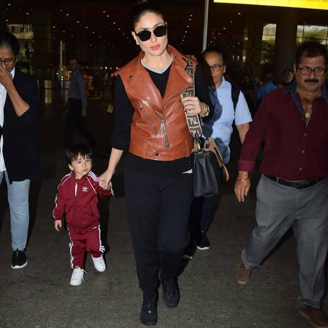 Beautiful Photos of Saif Ali Khan and Kareena Kapoor with Their Cute Son Taimoor Ali Khan