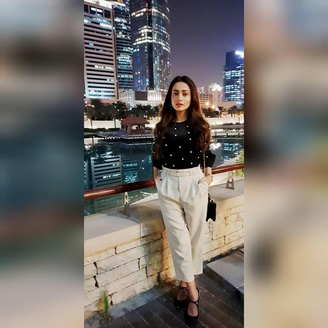 New Photos of Actress Zarnish Khan Having Fun in Dubai