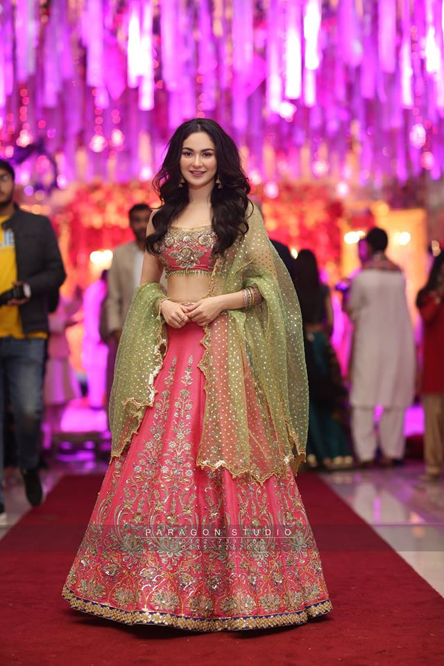 Hania Amir And Asim Azhar At A Wedding Event In Lahore