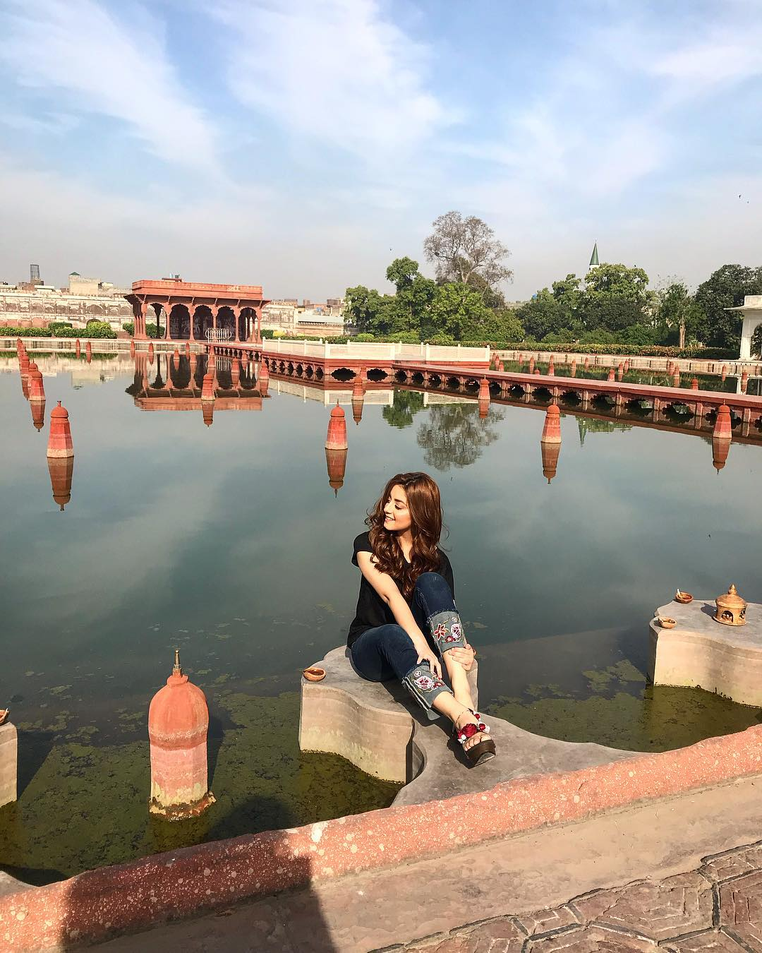 Beautiful Alizeh Shah At Shalamar Garden Lahore