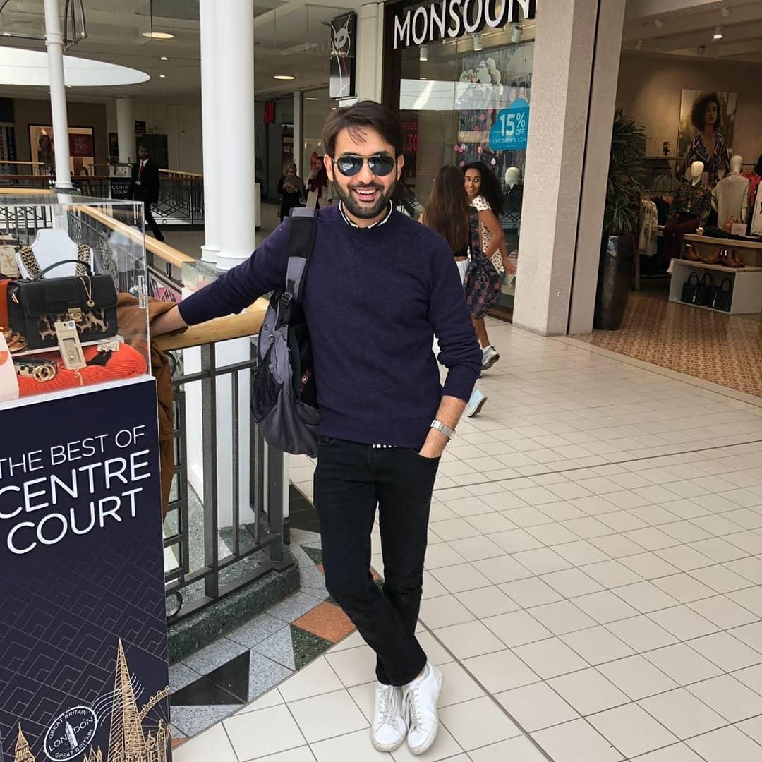 Latest Clicks Of Affan Waheed In London Pakistani Drama Celebrities