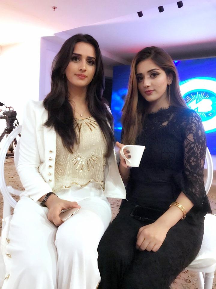 Beautiful Tik Tok Stars Jannat Mirza And Alishbah Anjum At Trailer Launch Of Drama Pakistani