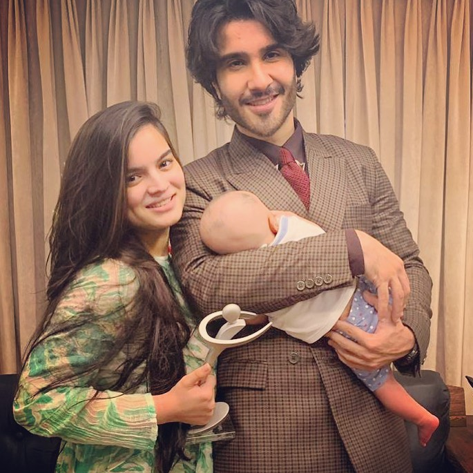 Latest Pictures Of Feroze Khan With His Wife And Son