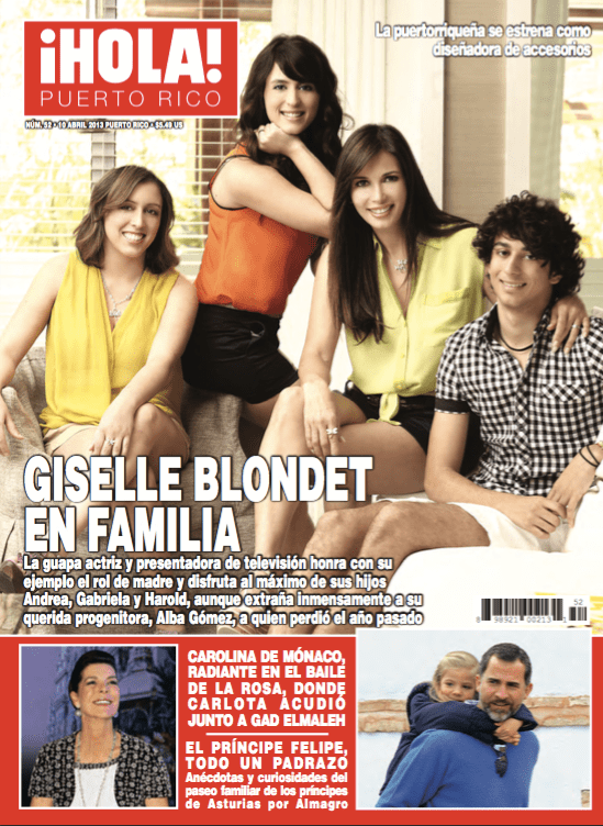 GISELLE BLONDET JUNTO A SUS HIJOS