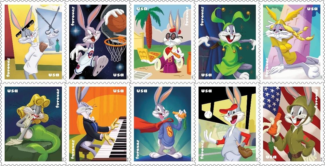 Bugs Bunny celebra 80 años en los sellos de correo