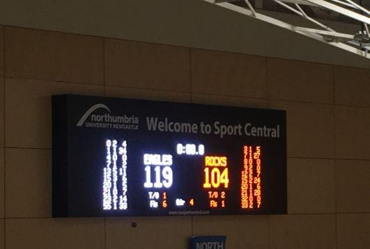 Newcast;e Eagles vs Glasgow Rocks Scoreboard