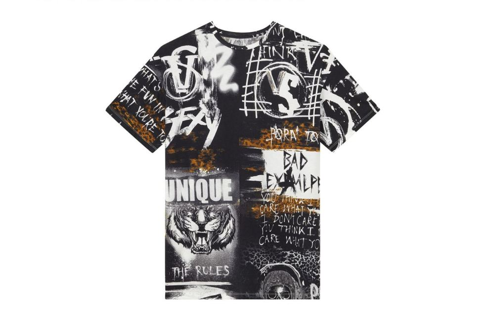 Patterned t-shirt from VS x Balmain core collection for 2017