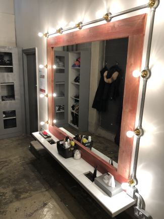 New improvements made to the barre studio over christmas 2017 including this beauty station