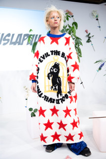 Kristel Kuslapuu FW18 Presentation at London Fashion Week Sweater dress