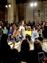 Malan Breton FW18 Fashion Scout London Fashion Week Lead Breton's muse closed the main runway show before the leather clad couture bride
