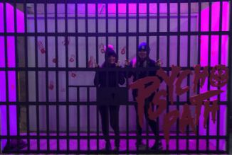 Psycho Path 2018 Halloween Horror Nights No Way Out Fashion Voyeur Blog Pixie Tenenbaum & Loubella Tenenbaum Instagram opp posing in cage