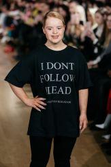 Kate Grant on the runway for Chanel Joan Elkayam FW19 at London Fashion Week Fashion Voyeur Blog by Pixie Tenenbaum