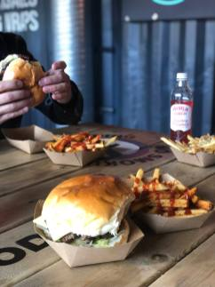 Burgers and Seasoned fries served up at Boojie Burger in Stack Newcastle