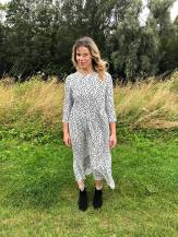 Blogger Pixie Tenenbaum wears the Zara Hot 4 The Spot polka dot dress on Conde Nast's Wear The dress Day (August 22nd 2019) on Durham's River Walk